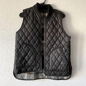 Madewell Black/Plaid Vest (reversible)